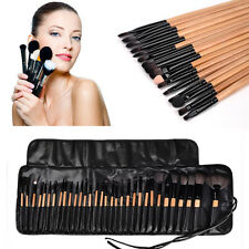 32Pcs Pro Makeup Brushes Set Eyeshadow Eyeliner Tools Wooden Handle Brush Kit