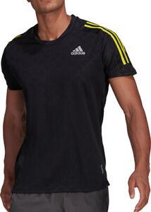 adidas Own The Run 3 Stripes Short Sleeve Mens Running Top - Black