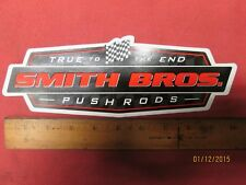 """Vintage Smith Bros. Pushrods Decal* Large 9 3/4"""" X 3 3/8"""" Contingency*"""