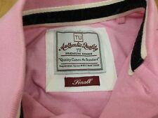 Rosa De Algodón Manga Corta Camisa Polo por tu auténtico Calidad Premium Pequeño ~ en muy buena condición