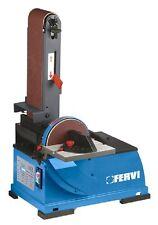Fervi Levigatrice Carteggiatrice combinata 375W disco nastro legno metallo 0523