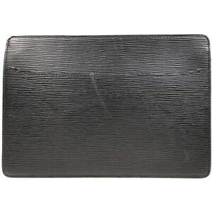 100% authentic Louis Vuitton Epi Pochette Homme Black M52522 [Used] {04-0136}