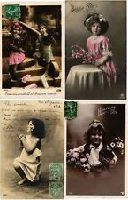 GLAMOUR REAL PHOTO GIRL, GIRLS, FILLES CHILDREN ENFANTS 800 CPA pre-1940