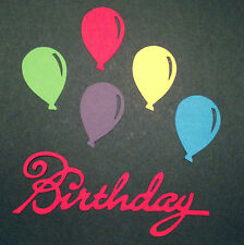 Scrapbooking - craft - card making - embellishments - RED birthday with balloons