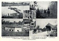 Von der schweizerischen Grenzbesetzung Pontoniere Kavallerie- Patrouille...1915
