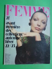FEMME chic FASHION magazine Collections Automne Hiver 1972 1973 Fall Winter RARE