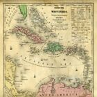 Map Of The West Indies Pied Piper Art Print 12x12