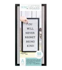 "American Crafts DCWV 10"" x 20"" Letter Board Kit - Black Frame, White Background"
