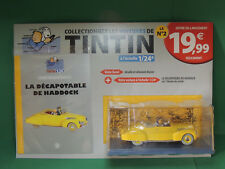 Collection HACHETTE Version Test 2018 Voiture TINTIN 1/24 N°2 Cabriolet Haddock