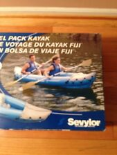 NEW Sevylor Fiji Travel Pack Kayak Two Person Removable Seat Incl. Paddle & Bag