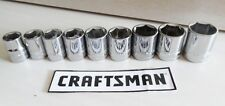 Craftsman 9 pc. 6 pt. 3/8 in. Drive Metric Socket Set 10-18mm NEW