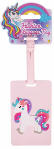 NEW - Cute Light Pink Novelty Childrens Unicorn Design Luggage/Suitcase Tag