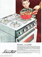 PUBLICITE ADVERTISING 096  1963  Sauter  cuisinière gaz