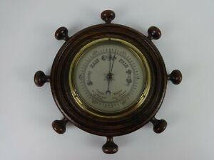 Ships Wheel Design Vintage Barometer Weathermaster British Made Weather Station