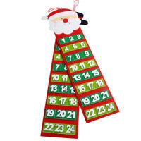 Felt Christmas Advent Calendar With Pockets Santa Or Snowmen Present FI