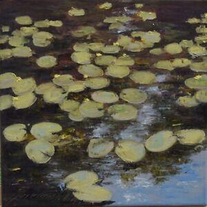 "Na wodzie"" Original Oil Painting 30x30cm signed Garncarek Al,,"