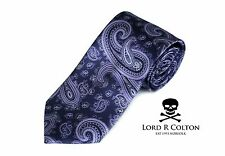 Lord R Colton Studio Tie Eggplant Purple Pasiley Woven Necktie $95 New