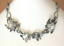 necklace, 47 gr., length: 40 cm, Vintage silver sterling and Art glass bead