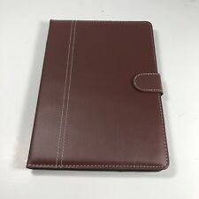 """Ipad Case 9.7"""" Pro Faux Leather Cover With Magnetic Closure Brown"""