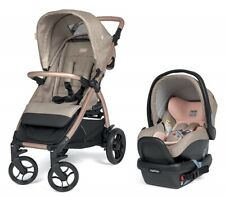 Peg Perego Booklet 50 Travel System Stroller w/ Primo Infant Car Seat Mon Amour