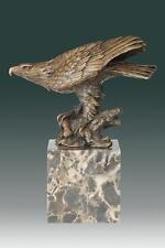 Bronze Eagle on a Marble Block Base Bronze Eagle Magnificent! Large Eagle