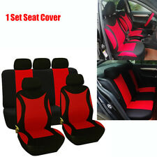 5-sits Car Front Rear Seat Cover Cushion Protector Red Polyester High Quality