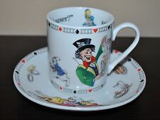 NEW PAUL CARDEW  ALICE in WONDERLAND MAD HATTER  Teacup & Saucer Design England
