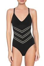 Robin Piccone Naomi Crisscross One-Piece Swimsuit 191112 Black Ivory 14