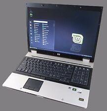 "Laptop HP Elitebook 8730w 17.0"" DualCore Nvidia Full HD 320gb 4gbRam Linux Mint"