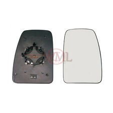RENAULT MASTER 2010->2016 DOOR MIRROR GLASS SILVER, HEATED & BASE,RIGHT SIDE