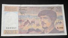 1997 FRANCE, 20 FRANCS . BANKNOTE CLAUDE DEBUSSY