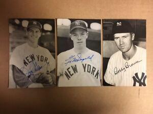 Gil McDougald NY Yankees Signed Postcard 1950s JSA Precertified