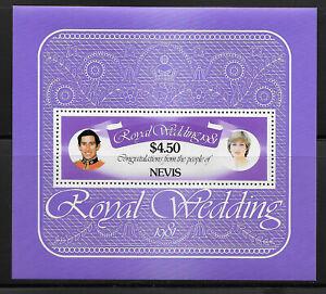 NEVIS , U K , 1981 , ROYAL WEDDING , SOUVENIR SHEET $4.50 STAMP , PERF, MNH