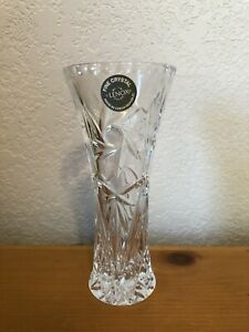1 (One) 6-Inch Lenox Fine Crystal Bud Vase with Label Czech Republic