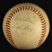 Early Career 1950's Willie Mays Signed Game Used NL Giles Baseball JSA COA Auto