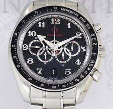 Omega Speedmaster Olympic Collection black Chronograph 44.25 mm Top B+P