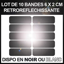 Kit de 10 stickers adhésifs réfléchissants pour signalisation sur casque