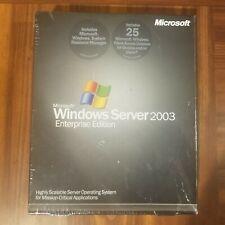 NEW SEALED Microsoft Windows Server 2003 Enterprise x86 25 CAL RETAIL P72-00001