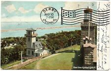 Coast from Highland Light Lighthouse New Jersey Vintage Postcard 1907 Germany