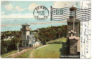 Coast from Highland Light Lighthouse New Jersey Vintage Postcard 1907 Germany