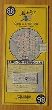 Carte Michelin 1-200 000e n°86 Luchon-Perpignan, 1971