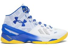 """Under Armour UA Curry 2 """"Dub Nation"""" Home Blue Size 10.5 White 1259007-104 NEW!"""