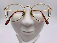 Vintage Charmant 8009 Gold Titanium Round Sunglasses FRAMES ONLY