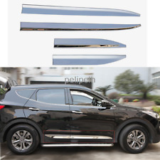 4PC For Hyundai Santa Fe Sport 2013-2016 Door Sill Plate Trim Moulding Bar Plate