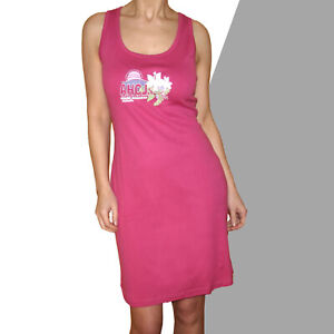 genial Sommerkleid Kleid Gr.38/40 100% Cotton Shirtkleid Jersey Pink Aloha-Druck