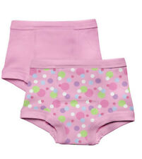 NEW 2Pk Green Sprouts Girl's 2T 24M Washable Potty Training Pants Underwear Pink