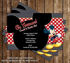 Mickey Mouse - Oh Toodle - Birthday Party Invitation - 15 Printed W/envelopes