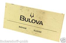 Originale Bulova Accutron display Scudo/sul piatto-ca. 50/60er anni
