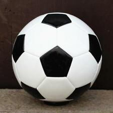 Leather Football Size 5 Soccer Balls 32 panel Traditional Black White PU UK