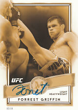 FORREST GRIFFIN SIGNED AUTO'D UFC '16 TOPPS MUSEUM COLLECTION 5X7 CARD #/10 BAS